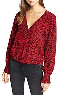 Cori Smocked Sleeve Blouse