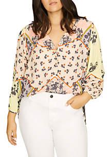 Plus Size Alia Button Front Blouse