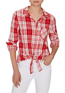 Sanctuary Haley Tie Front Shirt