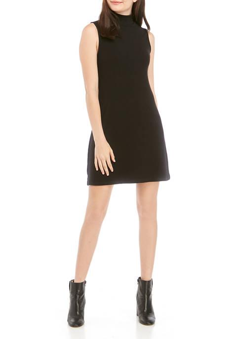 Sanctuary Womens Essential Sleeveless Mock Neck Dress