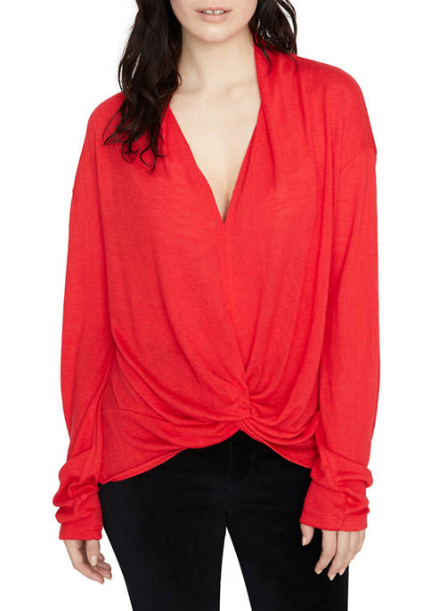 Sanctuary Womens Knot Interested Top