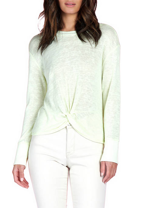 Long Sleeve Knotted T-Shirt