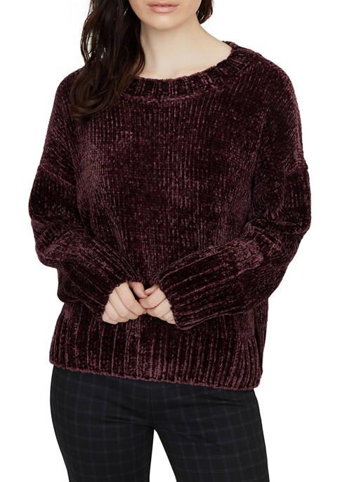 Sanctuary Womens Chenille Crew Neck Sweater