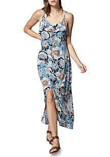 Isabella Ruffle Maxi Dress
