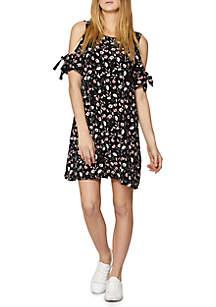 Valencia Floral Cold Shoulder Dress