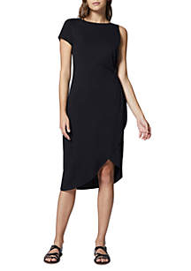 Salma Asymmetric Midi Knit Dress