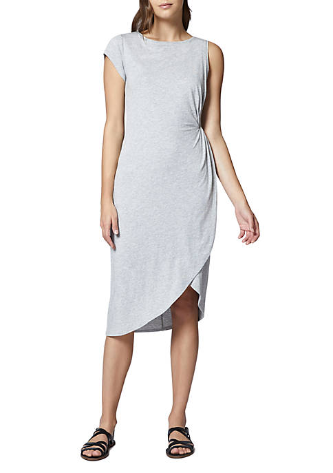 Sanctuary Salma Asymmetric Midi Knit Dress
