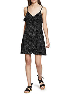 Rafella Button Dot Dress