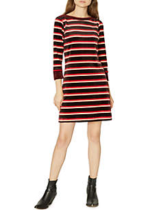 Katia Stripe Velour Dress