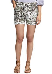 Muse Print Tie Waist Shorts