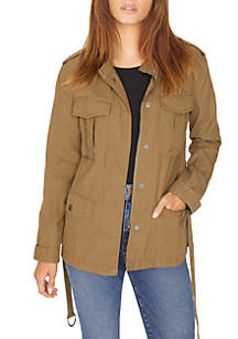 Solid Military Style Jacket