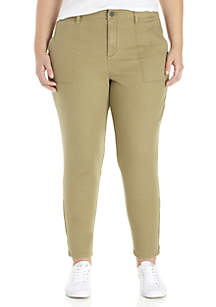 Plus Size Fast Track Zip Chinos