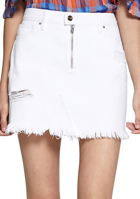 Sanctuary Exposed Zip Fray Skirt