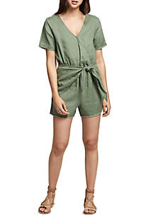 Date Palm Tie Front Romper