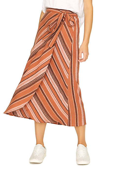 Catching Rays Faux Wrap Skirt