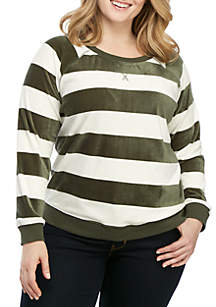 Sanctuary La Brea Stripe Long Sleeve Pullover