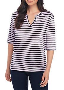 Sanctuary Ella Stripe Linen T Shirt