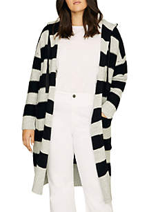 Sanctuary Rugby Hooded Long Cardigan