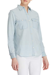 Lauren Ralph Lauren Two Pocket Chambray Shirt