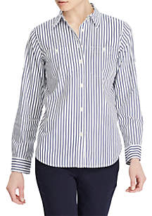 Striped Roll-Tab Shirt
