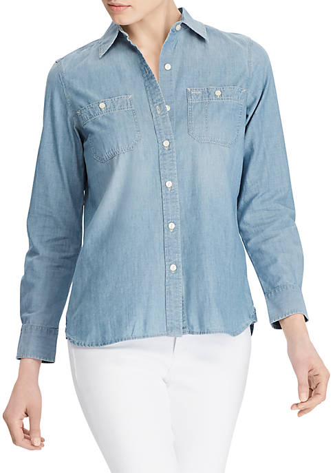 Lauren Ralph Lauren Cotton Long-Sleeve Shirt