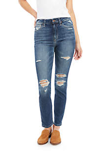 High Rise Shadow Pocket Jeans