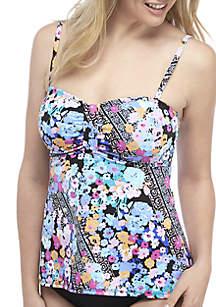 Kim Rogers® Swim Floral Tankini Top