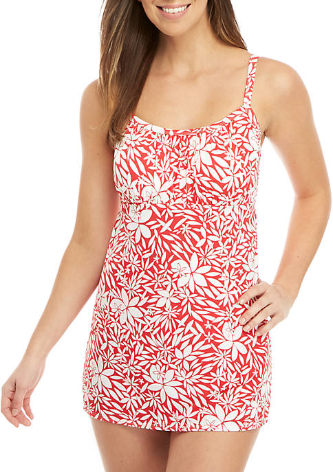 Tossed Petals Swim Dress