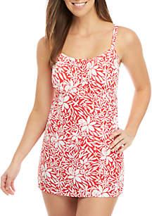 Kim Rogers® Tossed Petals Swim Dress