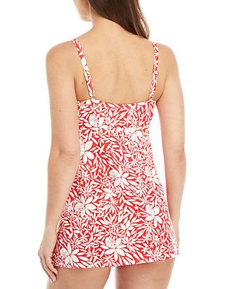 1d5f051d03dcc Kim Rogers® Tossed Petals Swim Dress   belk