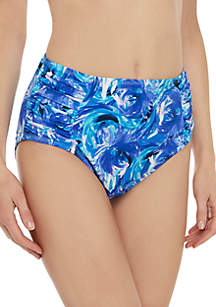 Kim Rogers® Windy Floral Side Shirred Swim Bottoms