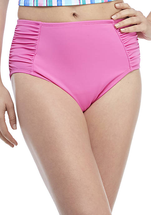 Kim Rogers® Full Coverage Side Shirred Swim Bottoms