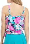 Floral Blouson Tankini Swim Top