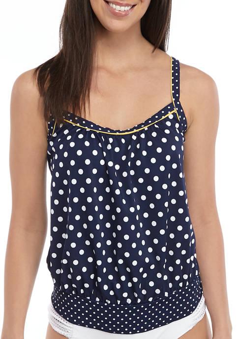 Kim Rogers® Blouson Tankini Swim Top