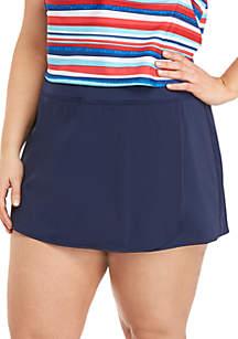 Kim Rogers® Plus Size Skort Swim Bottom
