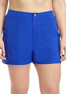 Kim Rogers® Plus Size Swim Shorts