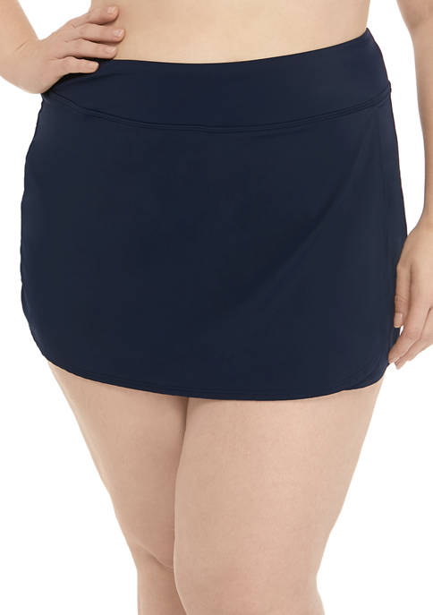 Kim Rogers® Plus Size Skort Swim Bottoms