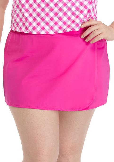 Kim Rogers® Plus Size Skort Swim Bottoms