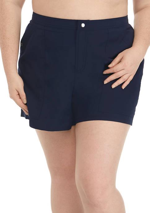 Plus Size Swim Board Shorts