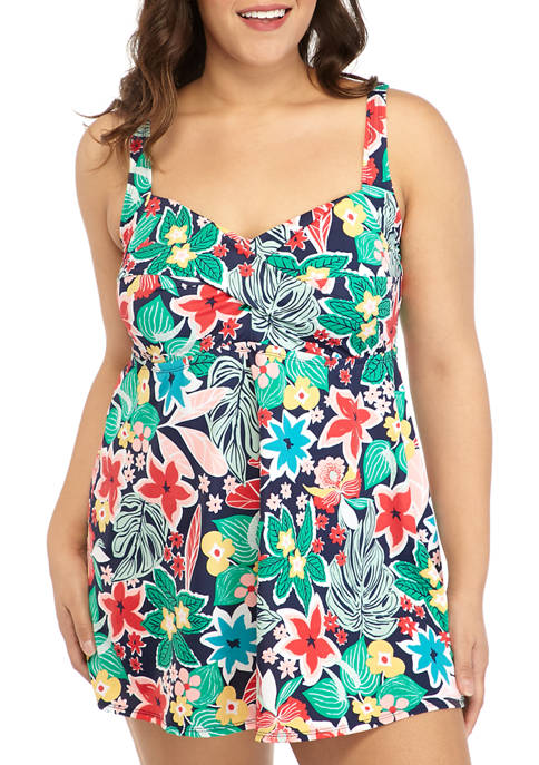 Kim Rogers® Plus Size Floral Beauty One Piece