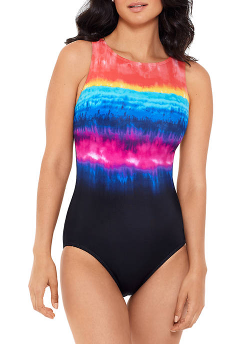 Party Cabana High Neck One Piece Swimsuit