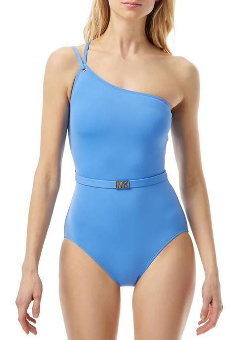 MICHAEL Michael Kors One Shoulder One Piece Swimsuit