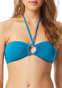 MICHAEL Michael Kors Ring Bandeau Swim Top