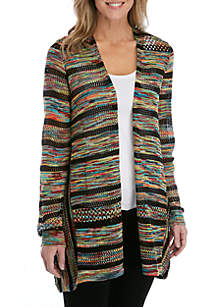 ... New Directions® Long Sleeve Marled Stripe Cardigan 9b3cb7bb5