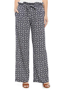 New Directions® Tie Front Knit Dot Pants