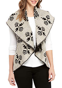 New Directions® Jacquard Circle Vest