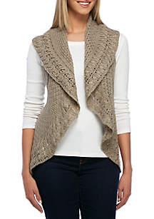 Heathered Circular Sweater Vest
