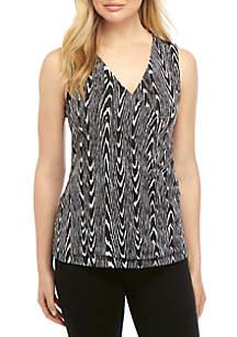 70d612483e Lauren Ralph Lauren Stretch Cotton Boat Neck Top · New Directions®  Sleeveless Knit Printed Surplice Tank