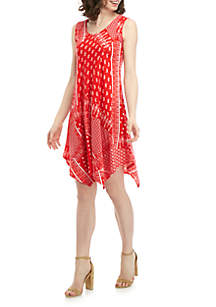 New Directions® Sleeveless Printed Dress