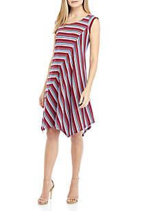 New Directions® Sleeveless Printed Piece Dress